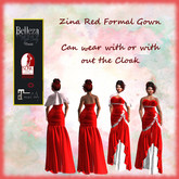 TA Zina Red Formal Gown