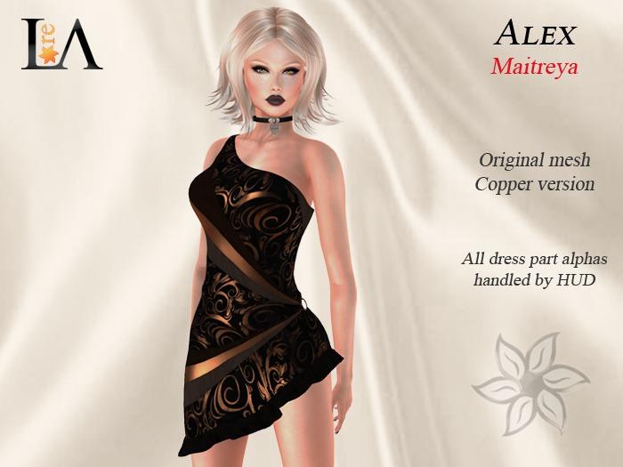 LA-Alex Dress unpack Copper