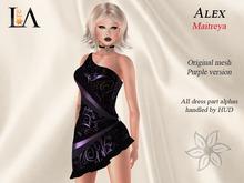 LA-Alex Dress unpack  Purple