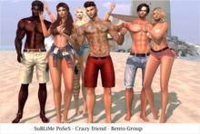 SuBLiMe PoSeS - Crazy friend - Bento Group Pose 6