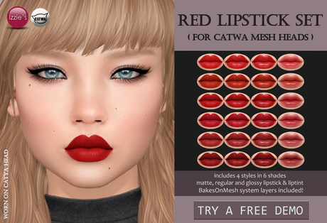 Izzie's - Red Lipstick Set (Catwa)