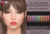 Izzie's - All The Colors Matte Lipstick Set (Catwa)