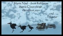 Marie Noel -  Jean Balthazar  (boxed) Santa claus sleigh christmas 2010