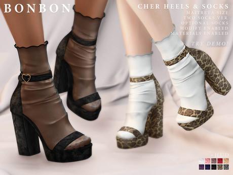 bonbon - cher heels & socks (maitreya)