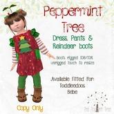 TPT - Peppermint Tree & Reindeer Booties - TD/Bebe Delivery