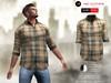 ! a d clothing   shirt  finn  brown