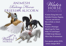 ~*WH*~ Animesh Friesian Alicorn