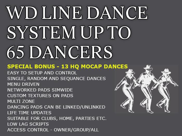 $ PROMO $ WD LINE DANCE SYSTEM COPYABLE + BONUS 13 HQ BENTO MOCAP DANCES