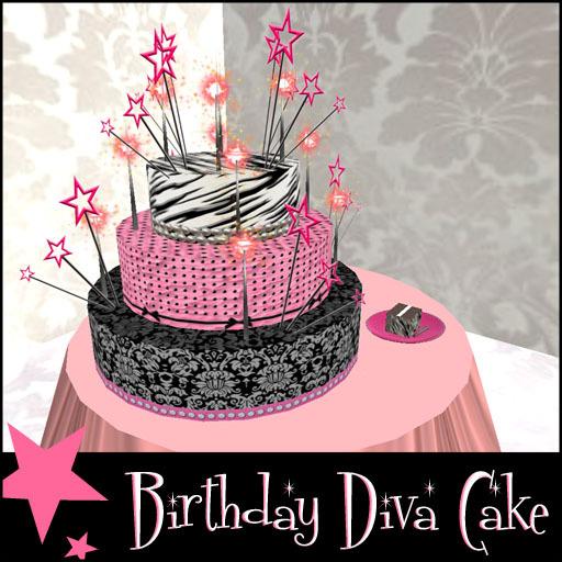 Second Life Marketplace Birthday Diva Cake