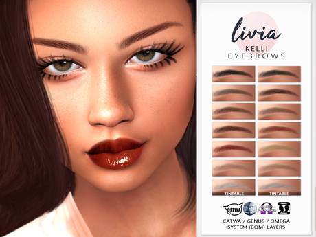 LIVIA Kelli Eyebrows [Catwa/Genus/Omega/System-BOM]