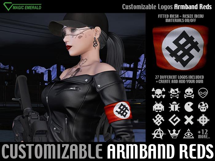 [M3] Armband Reds - Customizable logo