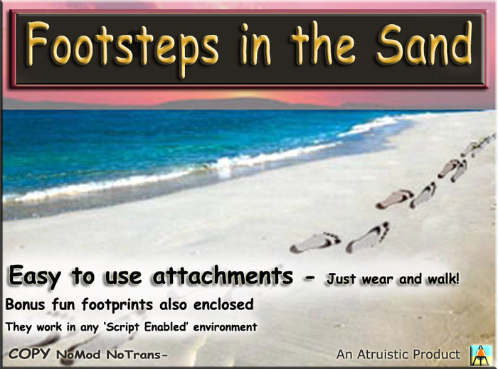 * ALTRUISTIC * ~ Footsteps in the Sand boxed