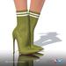 [Gos] Lea Stretch-Knit Boots - Guacamole