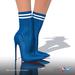 [Gos] Lea Stretch-Knit Boots - Galaxy Blue