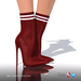 [Gos] Lea Stretch-Knit Boots - Carmine