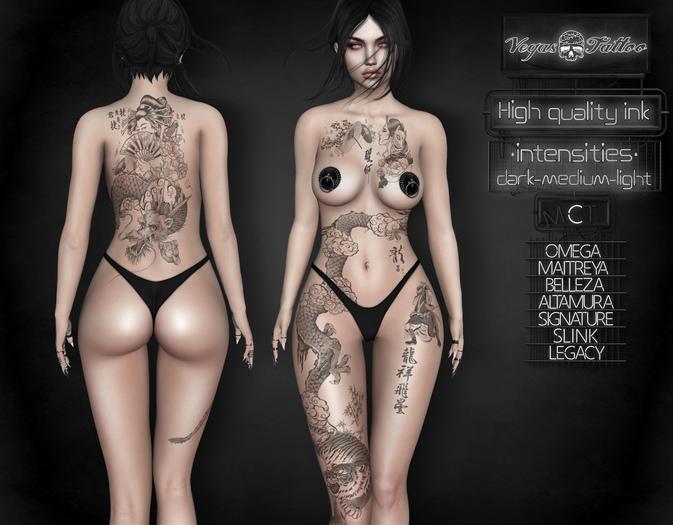 .: Vegas :. Tattoo Applier The Geisha and Dragon