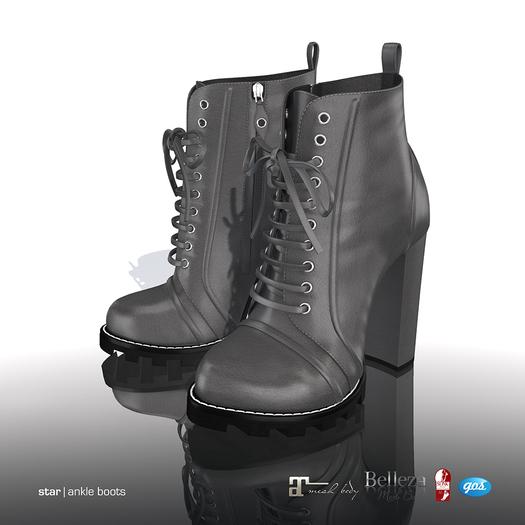 [Gos] Star Boots - Grey