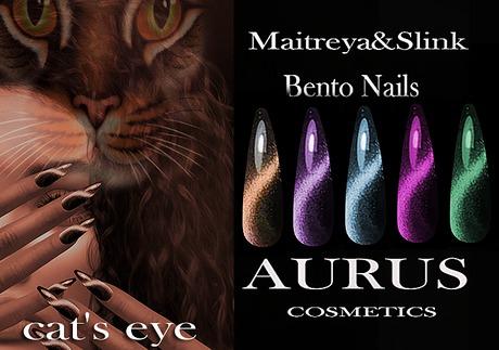 A U R U S -  cat's eye Bento Nails -Maitreya & Slink