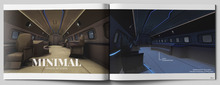 MINIMAL - Private Jet Scene -Blue-