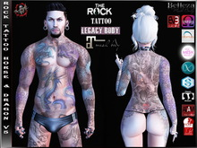 [HUD] Slink ,Signature Male Tattoo Applier - Horses & Dragons