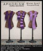 !APHORISM! Winter Scarf Purple/Pink