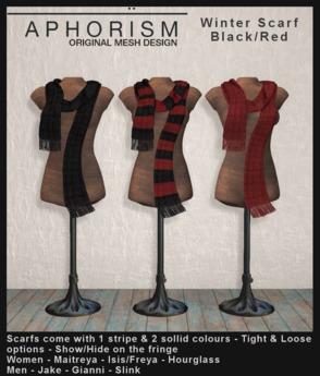 !APHORISM! Winter Scarf Black/Red