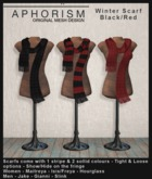 !APHORISM! Winter Scarf Black/Red