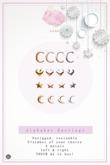 Swan Alphabet Earrings C