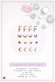 Swan Alphabet Earrings F