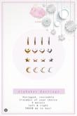 Swan Alphabet Earrings I