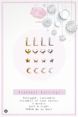 Swan Alphabet Earrings L