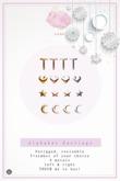 Swan Alphabet Earrings T
