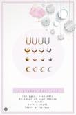 Swan Alphabet Earrings U