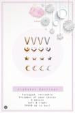 Swan Alphabet Earrings V