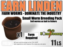 Small Worms Breeding Pack - Earn Linden by farming for worms