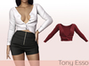 Tony Esso - Viki Sweater (Dark Red)