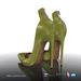 [Gos] Irina Pointed Zip Heels - Guacamole