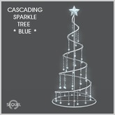 Sequel - Cascading Sparkle Tree - Blue - Christmas Decoration