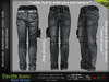 DAVIDE MALE BLACK JEANS - DENIM PANTS , MESH - SIGNATURE GIANNI, LEGACY, BELLEZA JAKE - FashionNatic