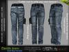 DAVIDE MALE DARK BLUE JEANS - DENIM PANTS , MESH - SIGNATURE GIANNI, LEGACY, BELLEZA JAKE - FashionNatic