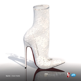 [Gos] Laura Lace Heels - White