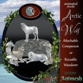 CKit Falconry animesh Arctic Wolf crate (Add or Rez to Unpack)