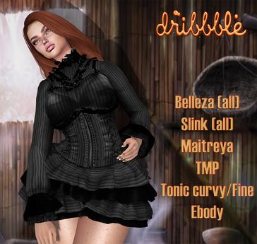 ***DriBbble Stipes  Gray Pirate