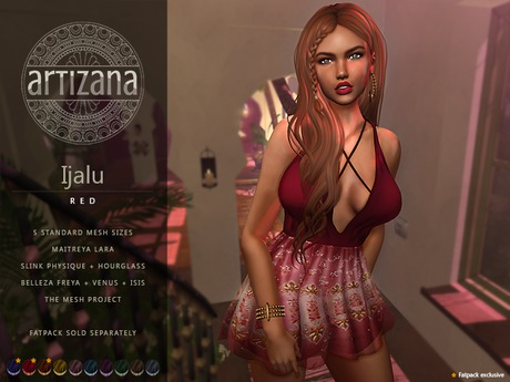 Artizana - Ijalu (Red) - Mesh Dress