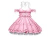 Little Tokyo Dress by Sweet Thing: PINK - Pretty gothic or classic dress with ruffles, poofy petticoat underneath