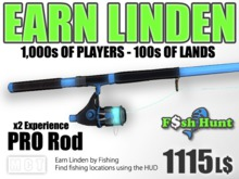 Linden Fish Hunter - PRO Rod - Earn Linden hunting for fish