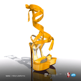 [Gos] Tania Ribbon Platforms - Radiant Yellow