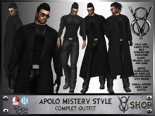 +V8 SHOP+ APOLO MISTERY STYLE COMPLET OUTFIT