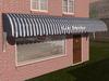 Dutchie 3d model  vintage awning striped darkblue