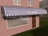 Dutchie 3d model  vintage awning striped lightblue